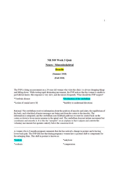 NR 509 Week 3 Quiz